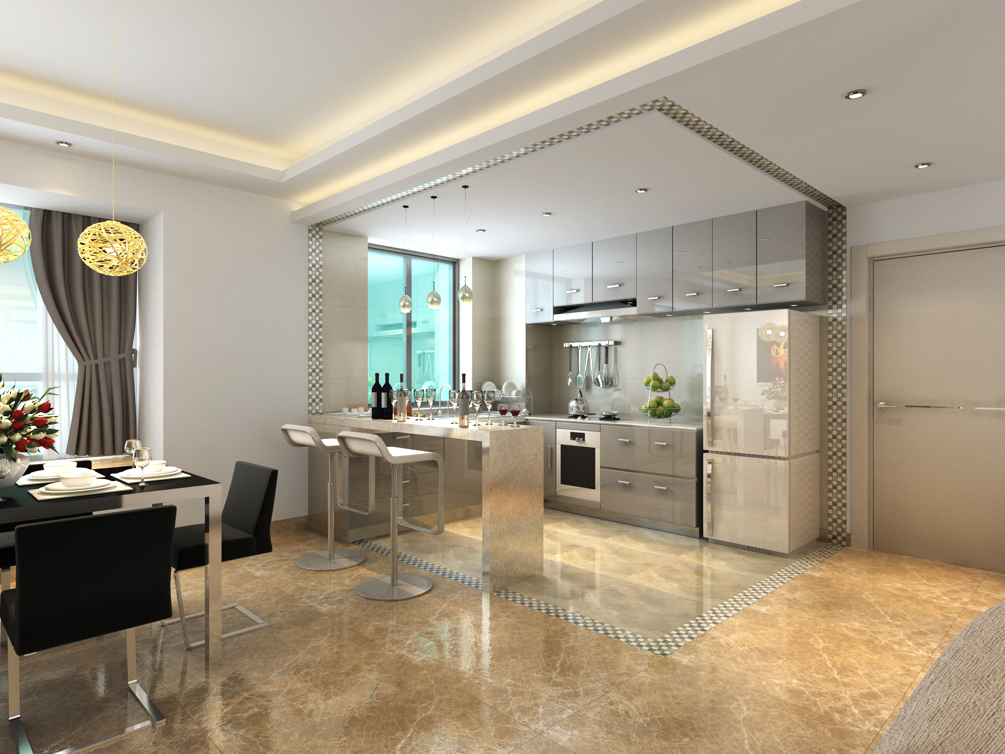 简约厨房装修效果图高清图片