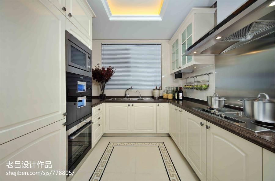 现代长方形厨房装修设计图 (10/20)