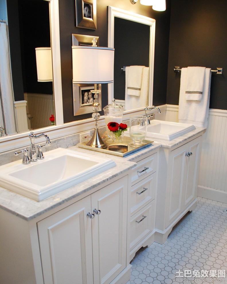 欧式小卫生间浴室柜效果图装修效果图