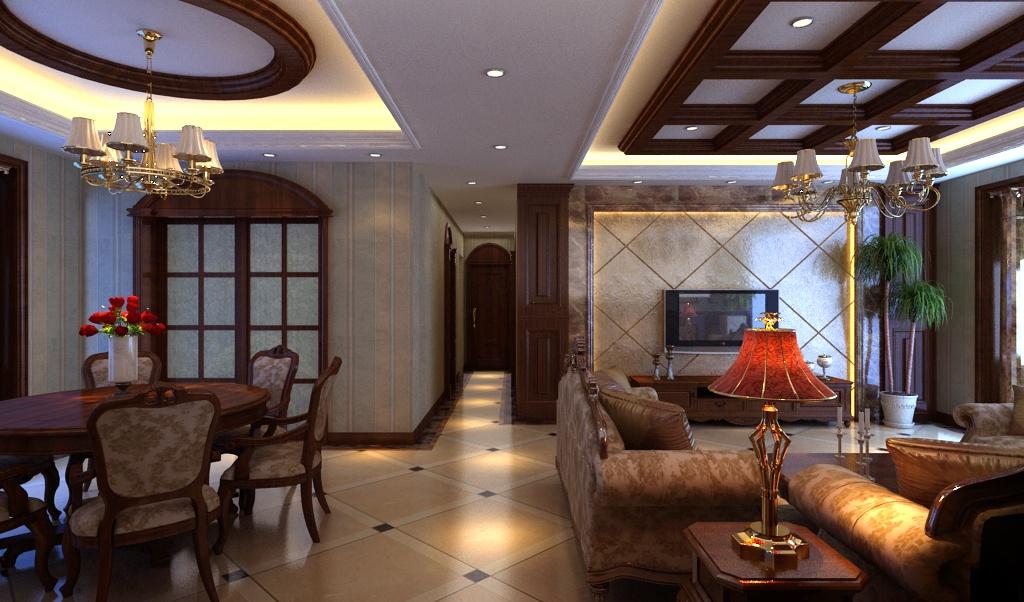 客厅 餐厅 一体过道 装修效果图装修效果图 第1