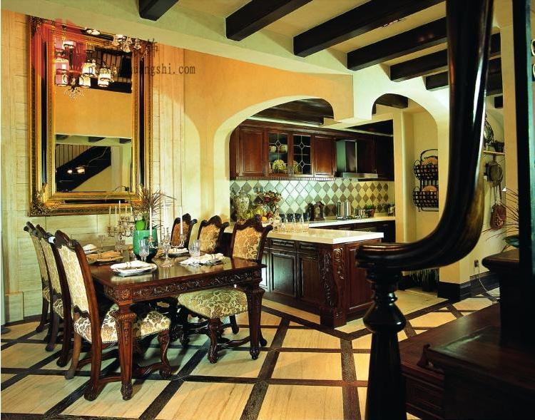 美式复式楼餐厅装修效果图装修效果图 第1张 家居图库 九正家居网高清图片
