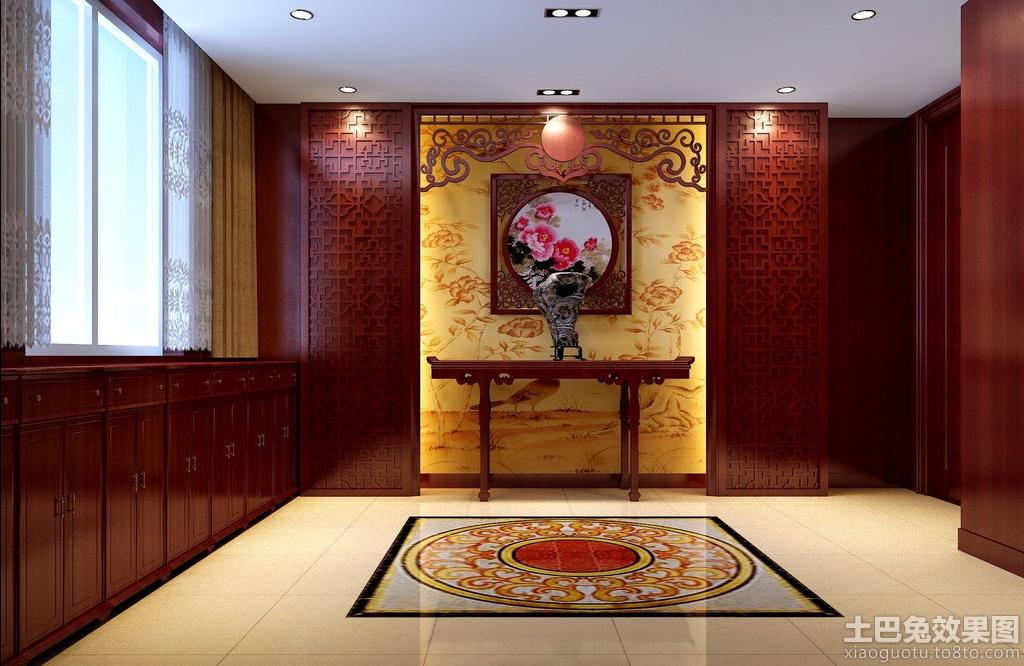 中式玄关背景墙效果图装修效果图 第1张 家居图库 九正家居网高清图片