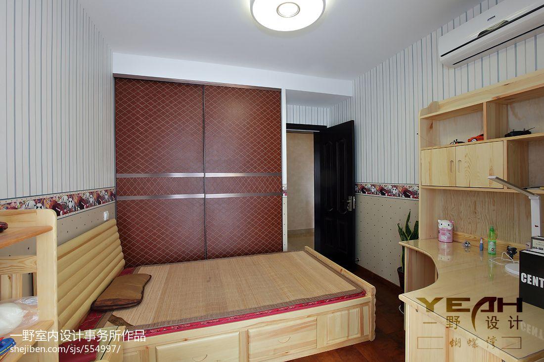 现代中式风格卧室壁纸装修效果图 (1/20)图片