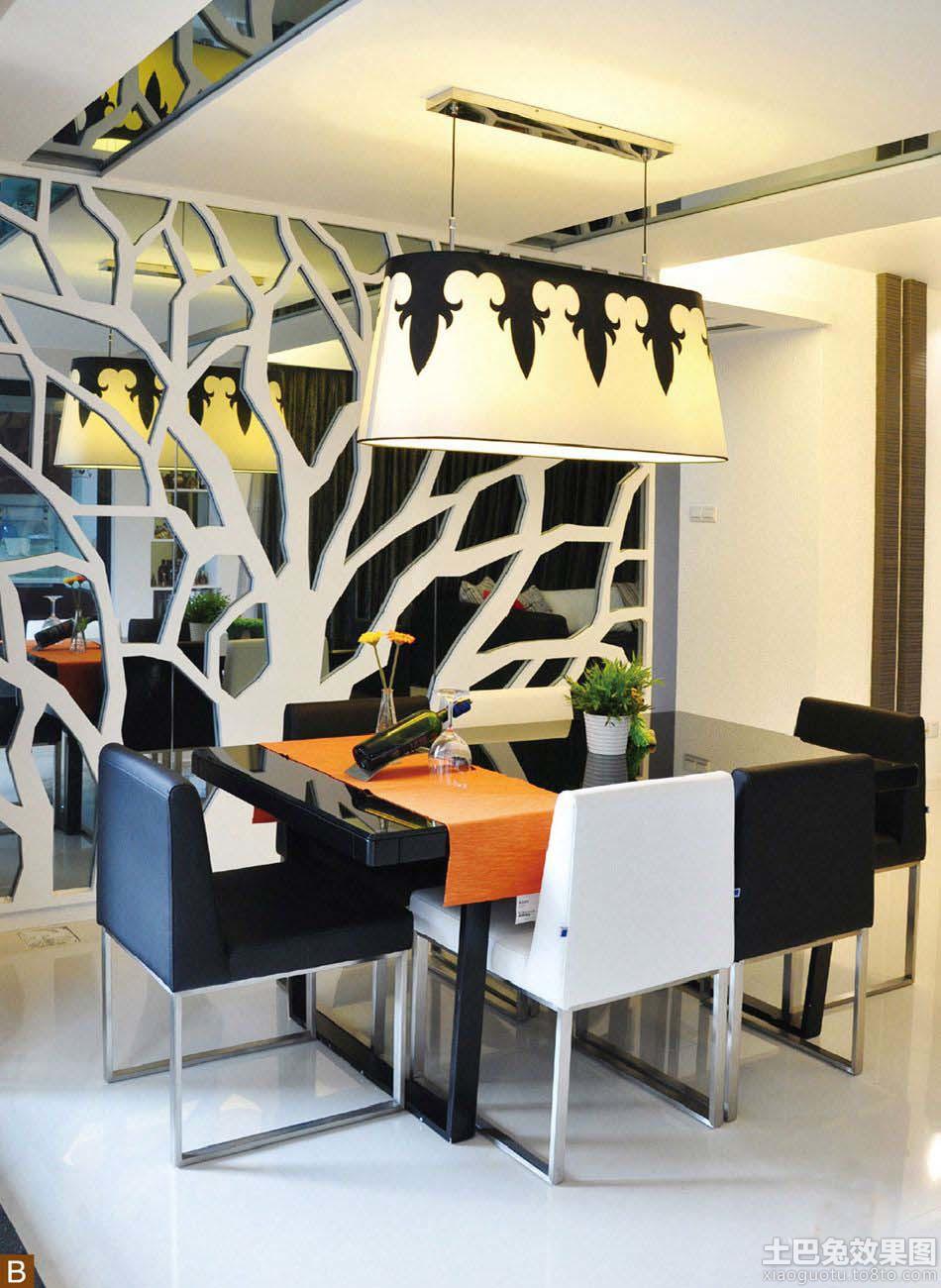 现代风格餐厅镂空隔断装修效果图装修效果图