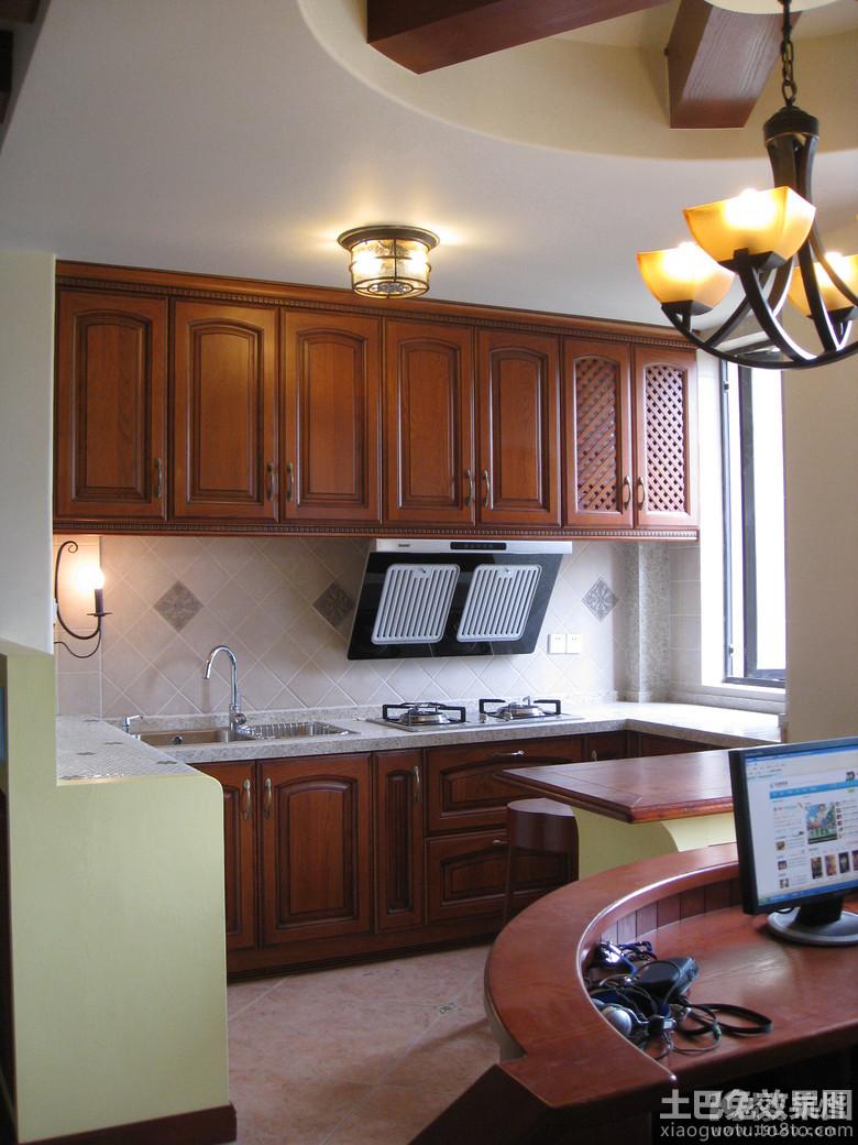 美式小厨房装修设计装修效果图