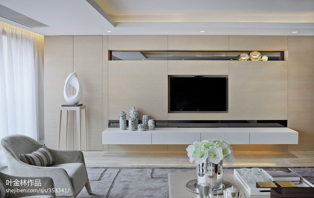 现代风格客厅电视墙装修装修效果图