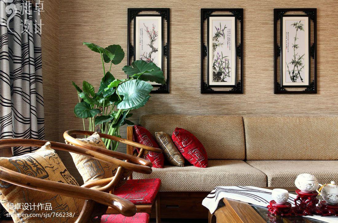 客厅沙发背景墙装饰挂画装修效果图_第1张 - 家居图库
