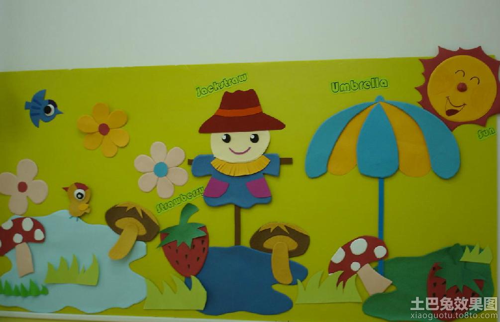 幼儿园中班墙面布置图装修效果图