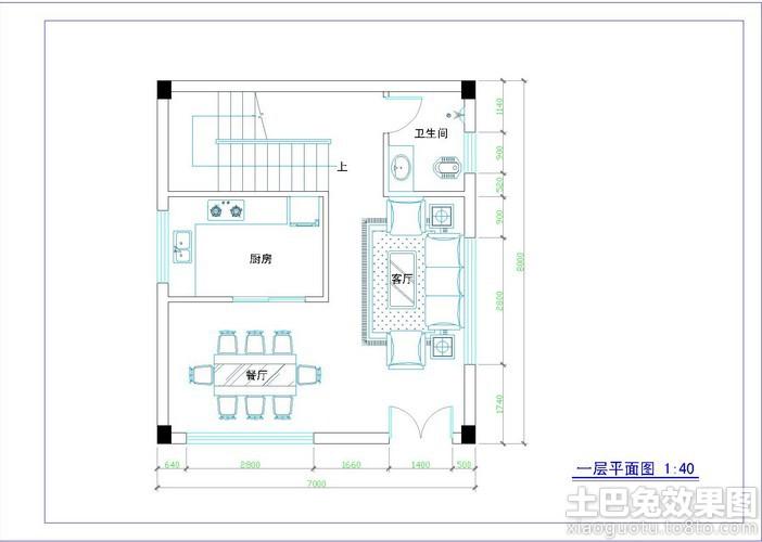 农村房屋一层平面设计图装修效果图
