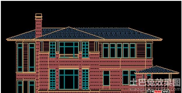 别墅屋顶设计平面图装修效果图