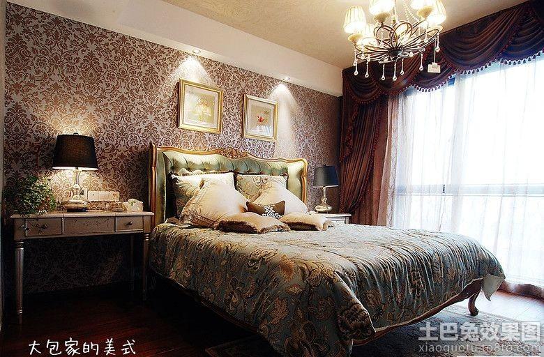 美式卧室墙纸图片大全 (2/10)图片