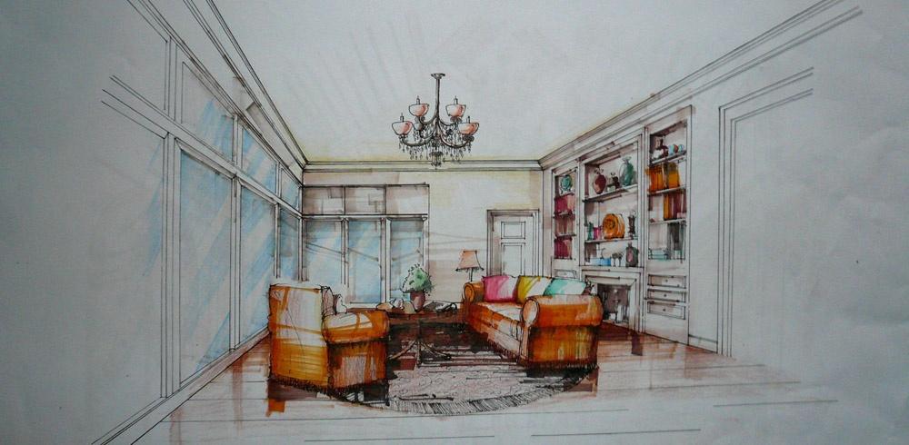 别墅客厅手绘沙发图片装修效果图_第4张 - 家居图库