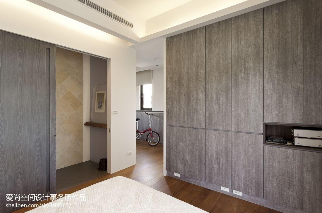 現代簡約風格臥室木衣柜圖片裝修效果圖_第21張