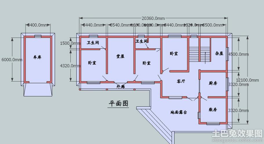 农村平房屋设计图纸装修效果图