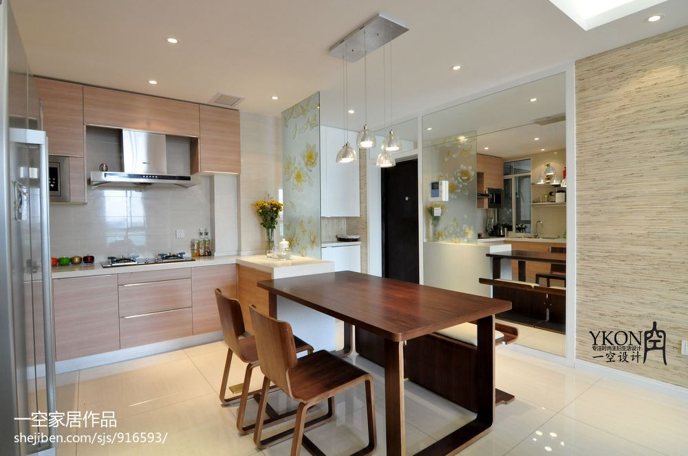 开放式厨房玄关隔断设计装修效果图_第2张 - 家居图库图片