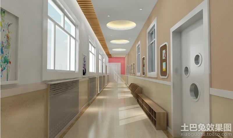 幼儿园走廊装修设计效果图装修效果图