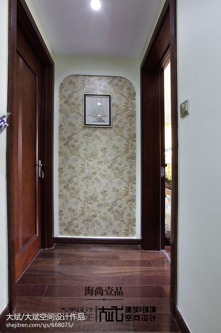 美式风格过道木地板装修效果图 (18/23)图片