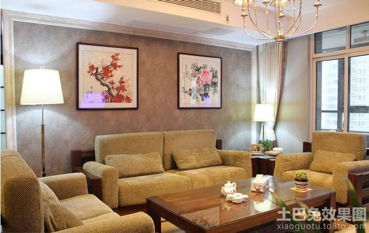 卧室装修中式壁纸贴图