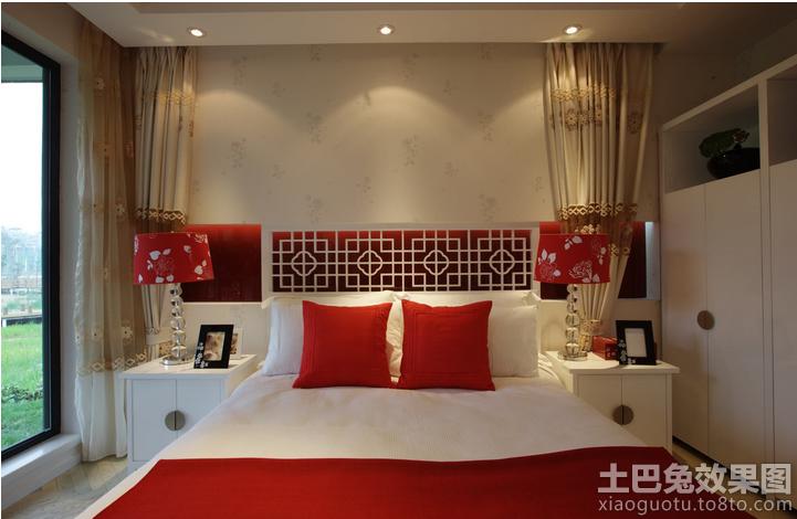现代中式卧室壁纸贴图 (2/9)图片