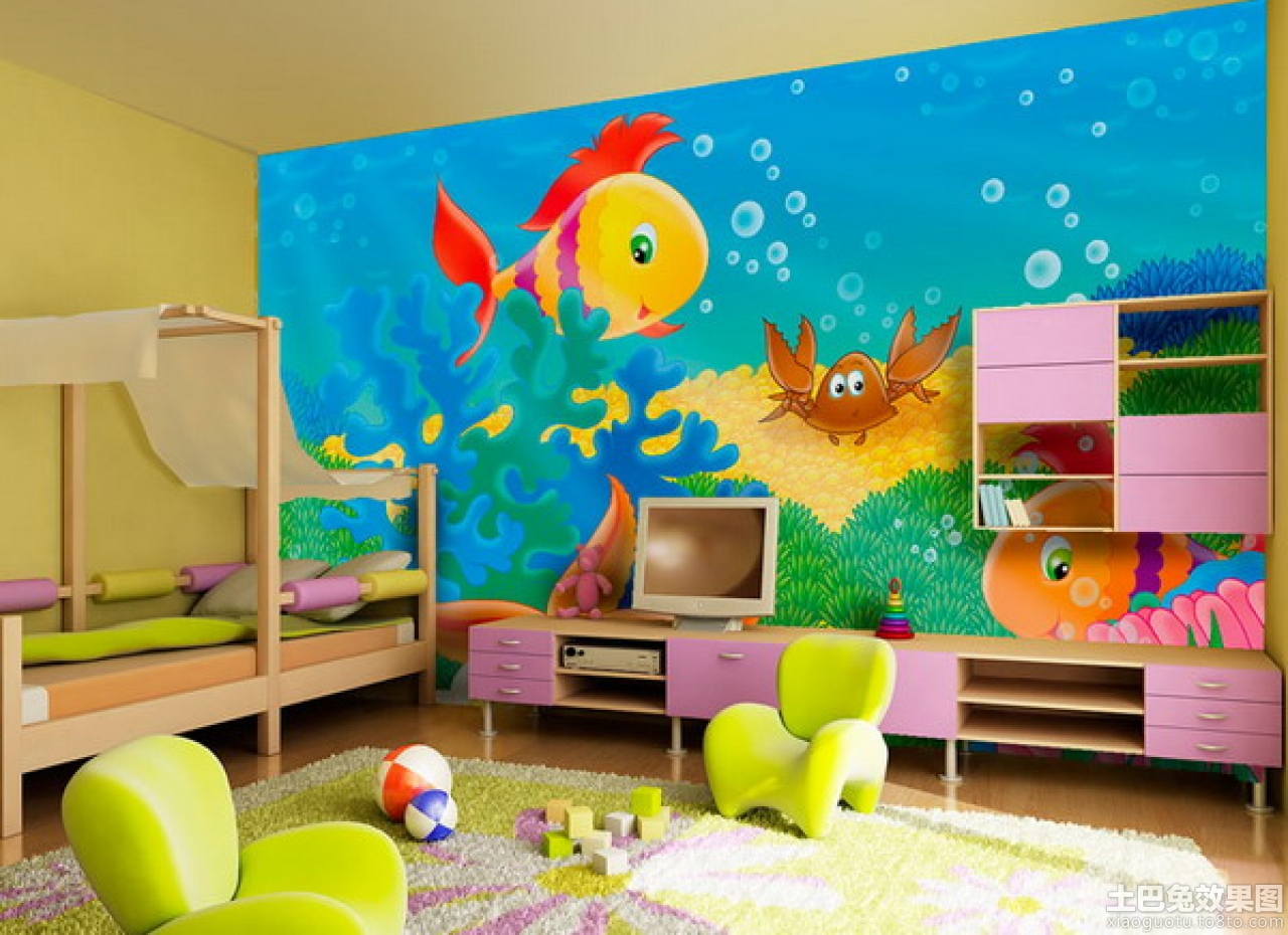 儿童风格手绘墙画图片大全装修效果图