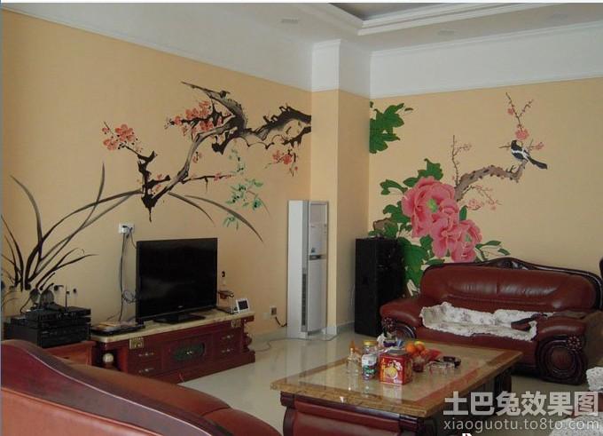 物手绘墙画图片