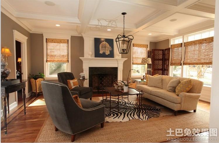 欧式风格客厅壁炉设计装修效果图
