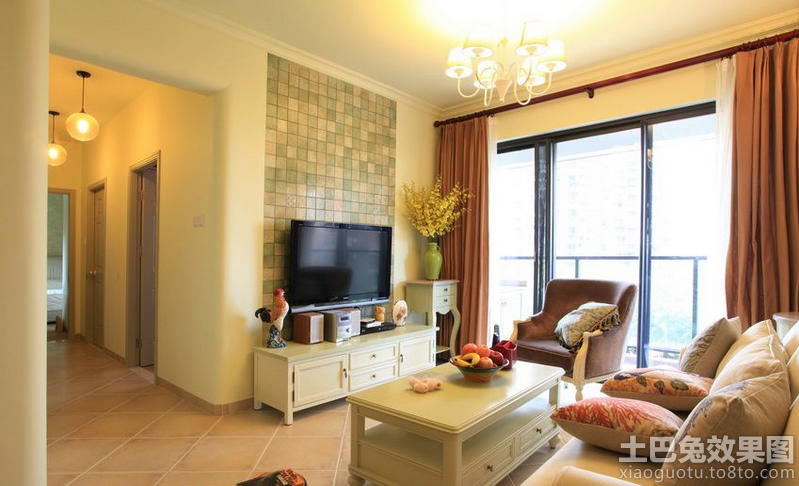 家装客厅电视马赛克背景墙图片装修效果图 第4张 家居图库 九正家居网高清图片