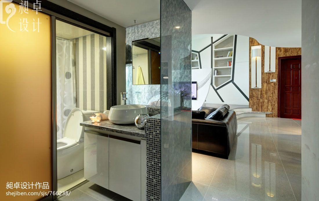 洗手间隔断图片装修效果图