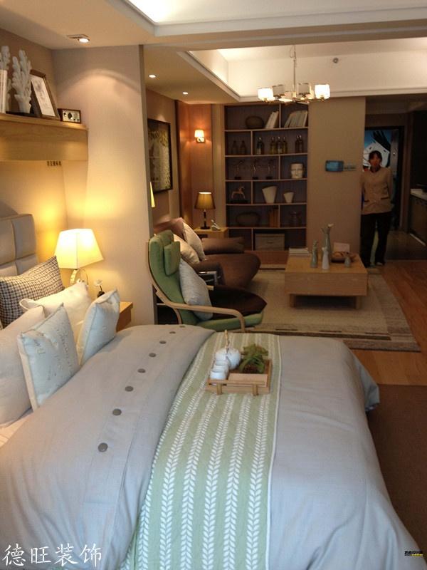 30平米小户型客厅卧室一体效果图高清图片