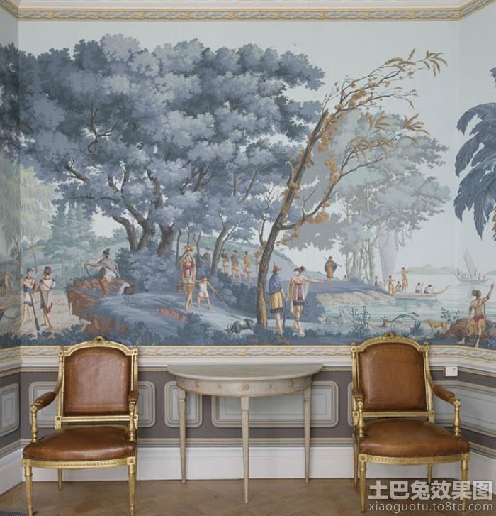 室内手绘墙壁画装修效果图装修效果图