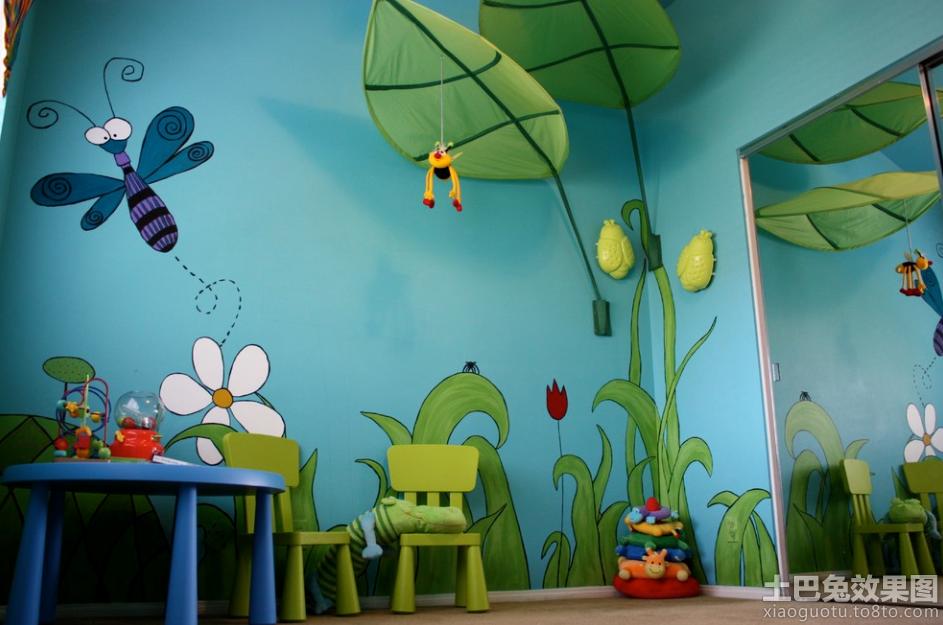活动室手绘儿童壁画图片欣赏装修效果图