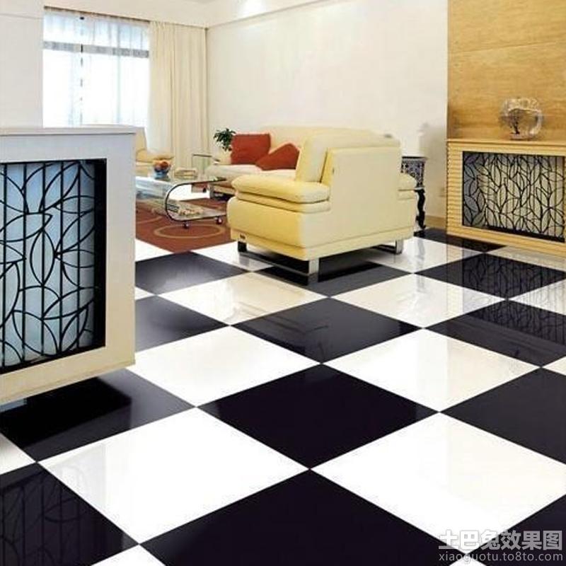 黑白客厅瓷砖装修效果图大全 5 9