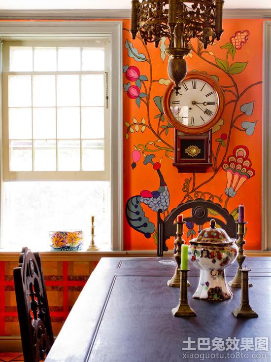 餐厅壁画背景墙效果图装修效果图