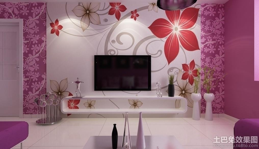 室内墙体彩绘电视背景墙贴图图片 (2/8)