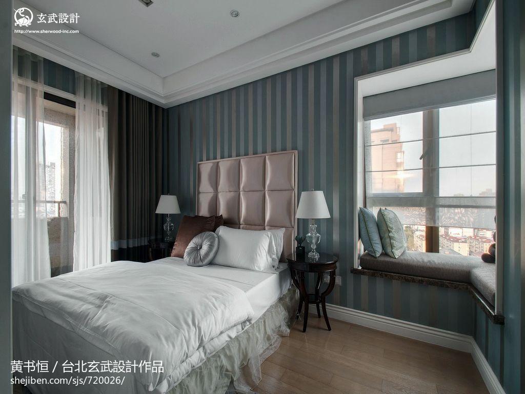 欧式卧室床头软包皮壁纸背景墙效果图装修效果图