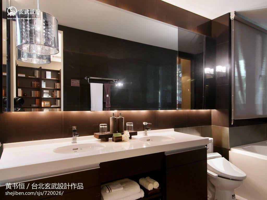 中式风格卫生间洗手台台面设计 (5/11)