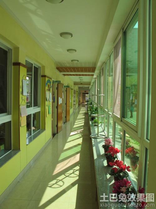 幼儿园走廊装饰设计效果图装修效果图