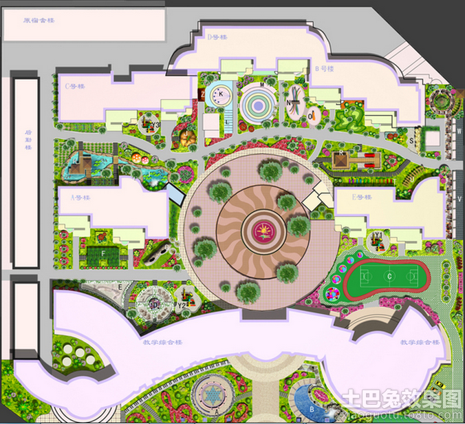 幼儿园建筑平面图装修效果图