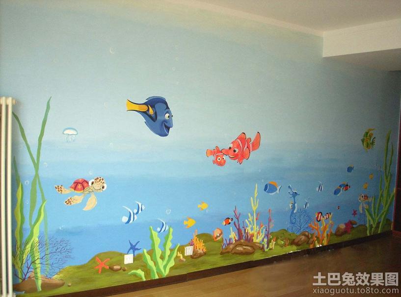 幼儿园手绘墙壁画装修效果图