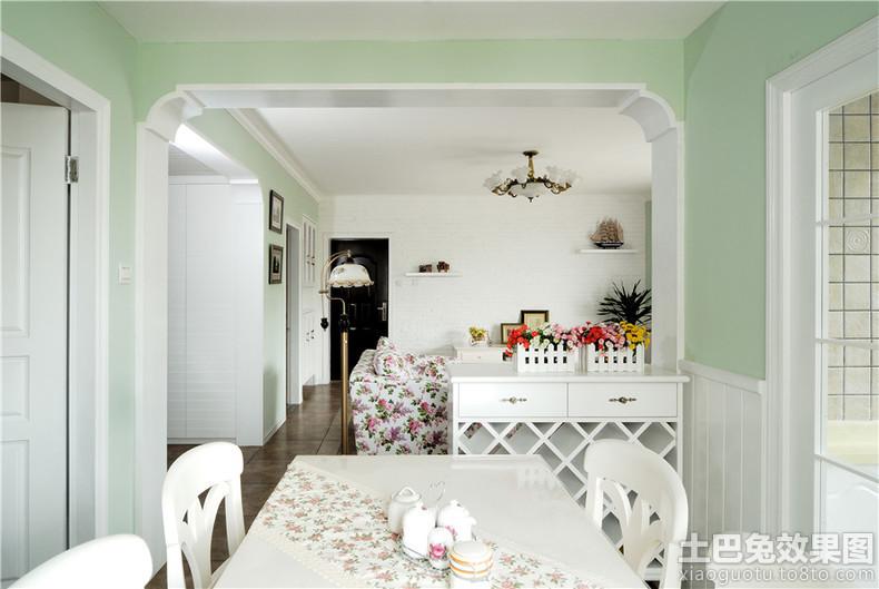 欧式 田园客厅餐厅垭口 装修效果图装修效果图高清图片