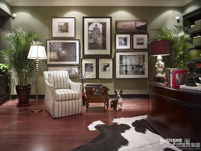 美式别墅室内家庭照片墙装修效果图