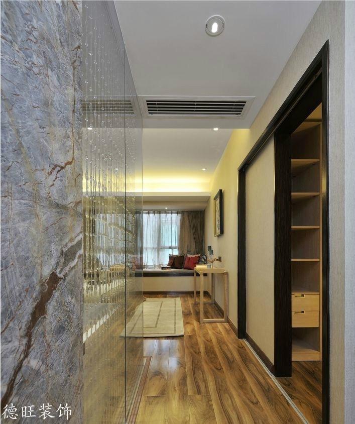 现代室内过道木地板贴图装修效果图
