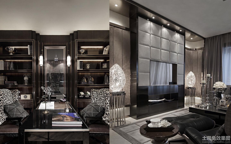 后现代风格客厅电视机背景墙样板间装修装修效果图