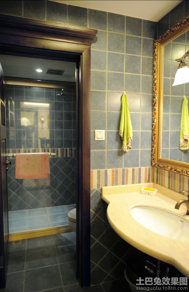 美式简约卫生间装修效果图欣赏 10 14高清图片