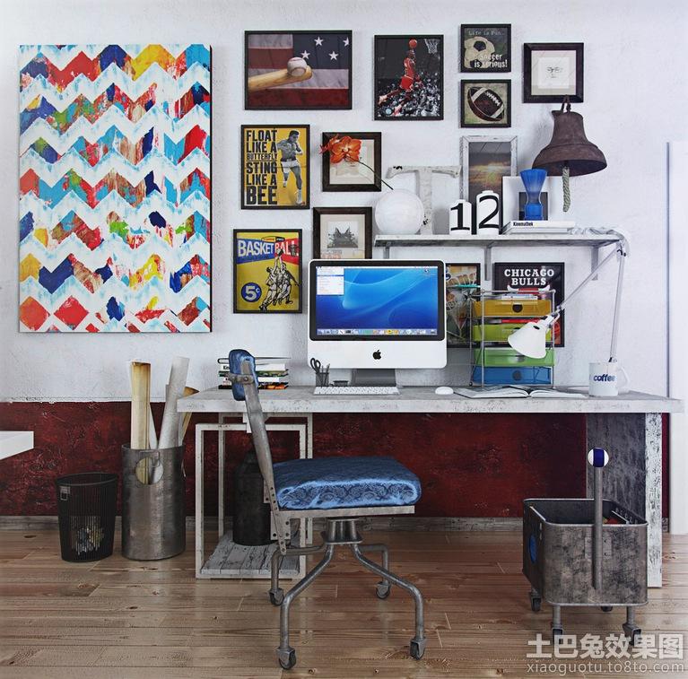 书房电脑桌效果图装修效果图 第8张 家居图库 九正家居网高清图片