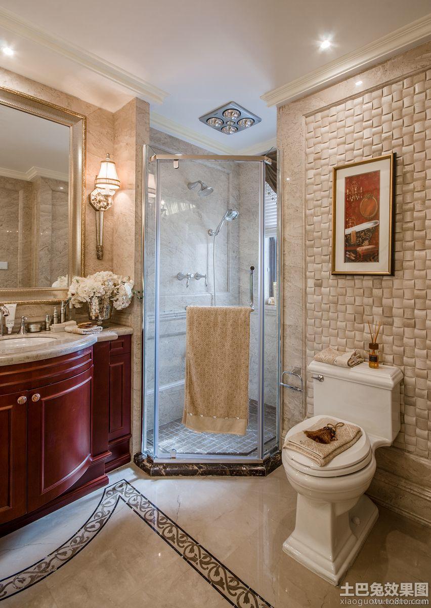欧式 风格卫生间 淋浴房 设计效果图 装修效果图 高清图片