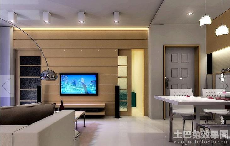 家庭室内设计客厅电视机背景墙效果图 (4/9)
