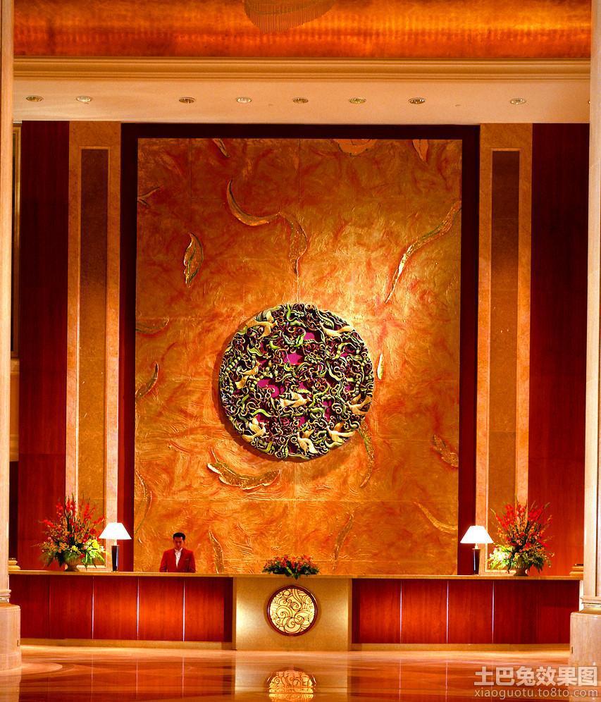 酒店形象墙效果图 吧台区图片高清图片