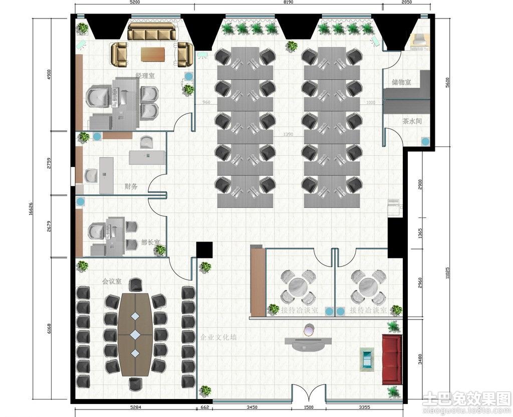 家居图库 办公室设计平面图片 > 第9张  共 10 张图片