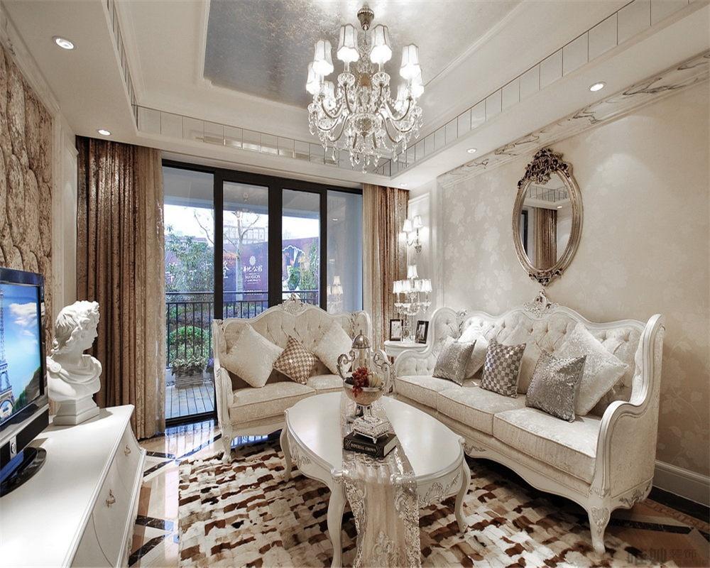 欧式风格80平米两室一厅装修效果图装修效果图